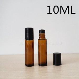 Rouleau d'ambre 10ml sur la bouteille de parfums, 10cc Essential Rollon Rollon Petit Conteneur de rouleau de verre 10pcs
