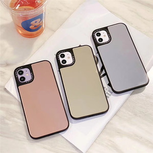 Luxury Mirror Case for Iphone 12 MINI 11 Pro 11Pro MAX 8 7 Plus X XS Max XR Case Full View Shockproof Phone Cover Cases Funda Coque