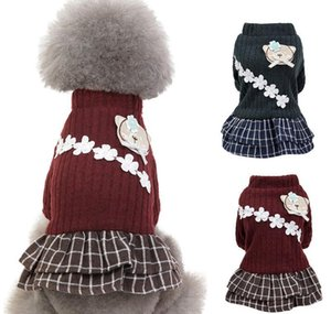 New Fashion Pet Elegant Skirt Autumn And Winter Keep Warm Cat Dog Clothing Plaid Skirt Cat An jllLNt dh_niceshop