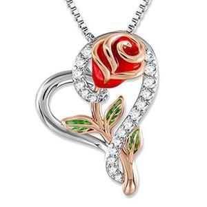 Fashion accessory Love Diamond Rose Necklace clavicle chain