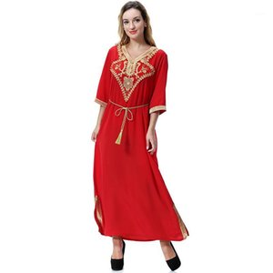 Kaftan Marocaine Muslim Abaya Dress for Women Saudi Arabia Islamic Clothing Polyester Turkish Jilbab Femme Musulmane1