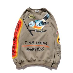 2021 Herren Hoodies Pullover Mode Pullover Hoodies Männer / Frauen Sweatshirts Harajuku Hip Hop Streetwear Pullover Printed Herren Hoodie