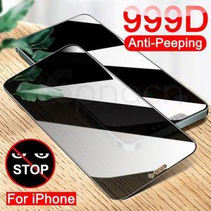 Anti Spy Temperli Cam iphone X XR XS 12 11 Pro Max Gizlilik Ekran Koruyucu Iphone 8 7 6 6 S Artı 5 5 SE Koruma Cam