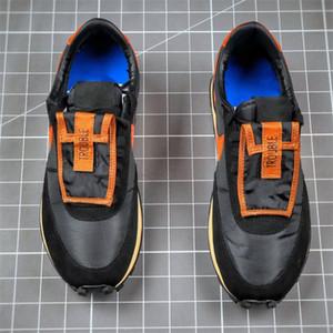 Tome dois sneakers do tipo Durle-tipo Problema US5.5-11 Sapatos de Waffle de Borracha com Caixa Lightweight Athletic Durff Type Sneakers