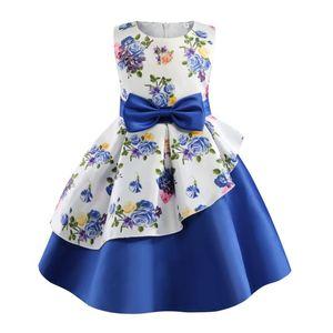 Girl's Dresses Girls Dress Printing Elegent Princess Kids For Birthday Party Evening Ball Gown Children Clothing Vestidos