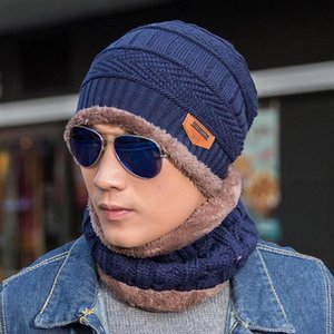 Nwest Men Warm Hats Cap Scarf Winter Super warmth Wool Hat Knitting for men Caps Lady Beanie Knitted Hats Women's hats