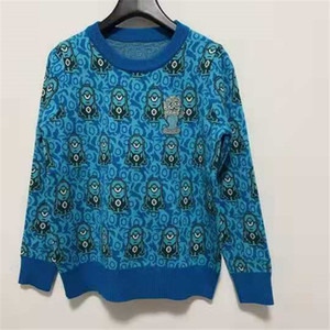 spring Women Knitted High Street Sweater Casual Jumper Fashion high end embroidery Slim Floral high quality Fashion womans clothes