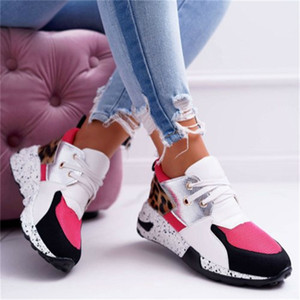 2021 The New New Fashionable Female Thick Leather Print Increased Ladies'sports Shoes J11j