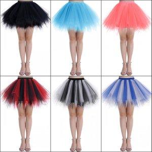 Short Mini Christmas Tulle Tutu Skirt Women Children Kids Tulle Petticoat Party Skirt 50s Vintage Ballet Bubble Dance Skirt