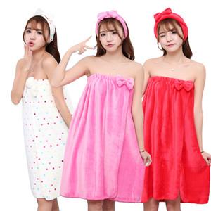 Super absorbant Sexy Sexy Bow Wrap Wrap Flanels NightCap Smoke Beha Teinture Bain Microfibre Mouchoir pour femmes Bandeau Femme Set pour