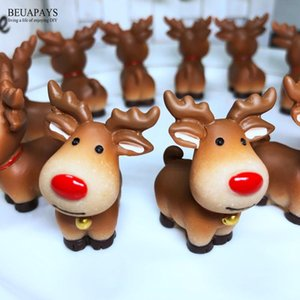 12pcs Merry Christmas gift box xmas elk party favors decoration Santa Claus Figurines Miniatures DIY Christmas Tree ornamenT