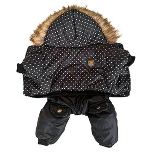 High Quality Dot Pattern Hooded Pet Winter Coat Thickness Clothes S to Xl New Dogs Clothing Y1124