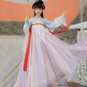 Asiatique Traditional Femmes Hanfu Costume Fairy Robe Chinois Folk Dance Vêtements Tang Dynastie Princesse Cosplay Stade Wear DN60241