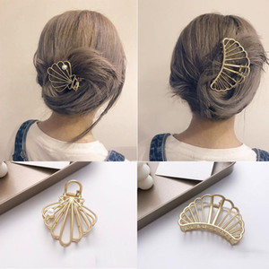 Hair Accessories Crab Hair Clip For Women Metal Pearls Shark Clip Hair Claw Bezel Fashion Girls Make-Up Geometry Hairpin