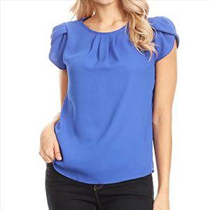 Kadınlar Yaz Şifon Bluz Katı Saf Temel Yumuşak Kısa Kollu Düğme Gömlek Gömlek Üstleri Lady Zarif Top Rahat Kadın Giyim Tops