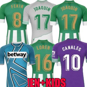 20 21 Real Betis Soccer Jersey четвертый 2020 год 2021 Joaquin Canales Men Kids CamiSeta de Fútbol Juanmi Fekir Bartra Emerson Loren William рубашки