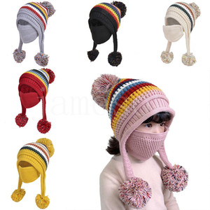 European and American winter Outdoor sports Cold proof knitted hat woolen yarnr hat keep warm children's hat Party Favor DB298