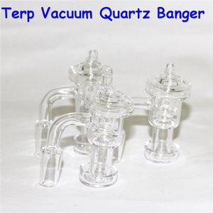 Set Terp Vacuum Quartz Banger & Carb Cap Terp Slurper Banger Domeless Nail For Glass Bongs 10mm 14mm 18mm