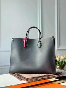 Onthego mm tote çanta göz alıcı charm ile moda kadın taneli deri alışveriş çantası kılıf bayan inek deri omuz çantası çanta cüzdan