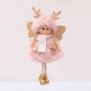 Factory Direct Sales Christmas Plush Angel Girl Boy Dolls Xmas Tree OrnamentDeco Christmas Decorations for Home New Year 2021 Kids Gift