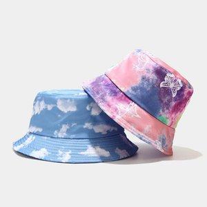 2020 Kravat Boya Kelebek Yangın Bulutu Baskı Balıkçı Şapka Balıkçı Şapka Erkekler ve Kadınlar için Eğlence Kova Gorros Mujer