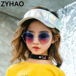 2020 Child Marque Desinger Enfants Fashion Métal Round Polygonal Kids Lunettes de soleil UV400 Protect pour Girls Boys