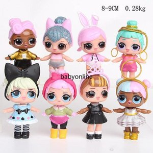 8 pcs lot 9CM LOL Doll American Kawaii Children Toys Anime Action Figures Realistic Reborn Dolls for girls Birthday Christmas Gift