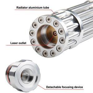 Powerful Blue Laser Pointer Torch 450nm 10000m Focusable Laser Sight Pointers Lazer Flashlight Burning Match bur qylsmS