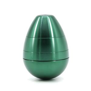 Yumurta Şekli Herb Öğütücü 4 Parça 58mm Sigara Set Alüminyum Alaşım Pollen Basın Catcher Tütün Kırıcı Metal DAB Aracı Deniz Nakliye GWE4069