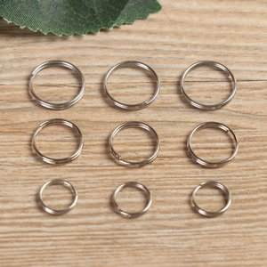 50 Pcs Edc Stainless Steel Keychain Ring Hooks 8 10 12mm Keyring Circle Loop Luggage Tag Screw Lock Diy Pendant Camping Tools Q bbyDrC