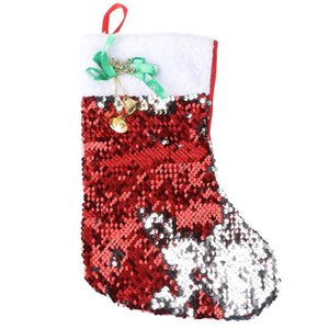 1PC Christmas Stocking Candy Bag Christmas Gift Packaging Pouch Xmas Decoration