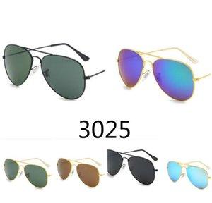 جودة عالية طيار نظارات شمسية خمر الطيار uv400 حماية رجل إمرأة مرآة عدسات إطار معدني إطار نظارات الشمس 3025