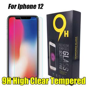 Vidro temperado Para Iphone 12 Mini 11 Pro Xs Max Xr 8 mais protetor de tela para Samsung Galaxy S8 J7 A50 A70
