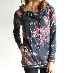 2020 Autumn and Winter Fashion Popular Printed Hooded Womens Sweater Front Pocket 0596#