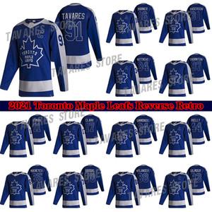 Toronto Maple Leafs Jersey 2020-21 Обратный ретро 91 Джон Таварес 34 Auston Matthew 16 Mitchell Marner 97 Joe Thornton Hockey Jerseys