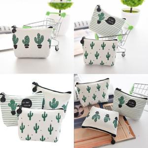 Kreative Kaktus Bleistiftkoffer Geldbörse Leinwand Tragbare Stift Geld Geldbörse Streifen Reißverschluss Tasche Taschen Schlüsselanhänger Geschenk Bleistift Bag 160 N2