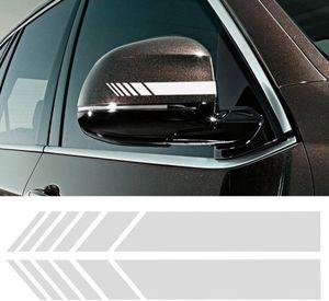 2pcs Car Rear View Mirror Stickers Decor DIY Car Body Sticker Side Decal Stripe Decals SUV Vinyl Graphic