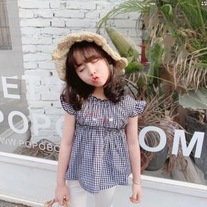 baby girls clothes summer Girls T-shirt Cartoon little bear rabbit embroidery tops cotton soft sweet t-shirt Z1121