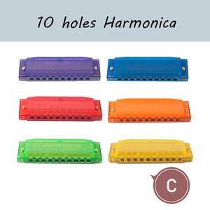 10 buche colorate armonica traslucida per bambini bambini giocattolo per principianti uso regalo c armonica chiave per principianti