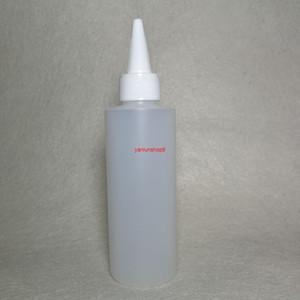 50pcs 150ml vuoto a punta rotonda a punta a bocca liquido HDPE contenitore di plastica bottiglie di lozione cosmetica con tappo a vite fai da te doccia gelgood pacchetto