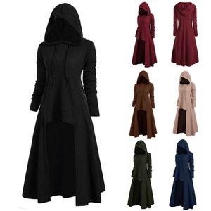 Женские готические длинные толстовки толстовки плюс размер старинные плащ высокие низкие пуловеры вершины негабаритные белье женские толстовки 2020 y200706