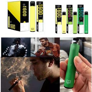 Sabores mistos Puff XXL Dispositivo descartável 1600+ Barra Puff XXL Puffs 18 cores Barra Puff Plus Xtra E Cigarette Vape Pen