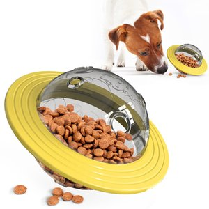 Pet Supplies Universal Flying Discs Toys TPR Cat Chew Tools Leaking Food Feeder Ball Puppy Training Toy Dog Accessories Y1125