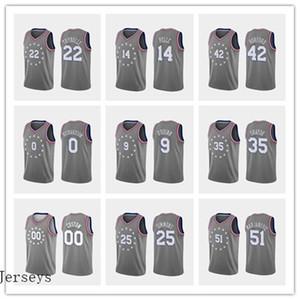 les hommes 76erscrême PhiladelphiaHarris 21 Embiid 22 Thybulle 25 Simmons Basketball Jerseys Tobias Joel Ben Maysse Grey City Jersey