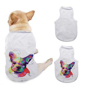 DIY DUCHES T-shirt Vêtements Sublimation Vierge Animaux 3 tailles Dog Dog Vest Gilet Vêtements Fournitures de vêtements en polyester Nouvelle arrivée 10 5Ex m2