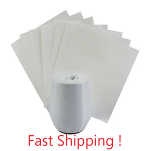 5 Sizes White Sublimation Shrink Film Shrink Wrap Sleeve For Sublimation Bottles Heat Press Printing For Tumbler Mugs Shrink Wrapping