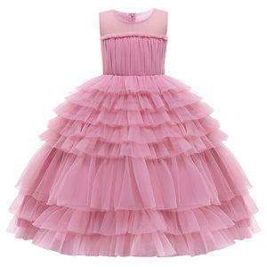 Christmas new girl baby Holiday Party cake skirt long dress girl birthday party feast president dress vestidos de fiesta Z1127