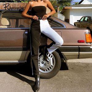 Pantalon de taille haute Rapcopter Rapcopter Femmes Poches Y2K 90S Cargo Streetwear Denim Pantalons Retro Jeans