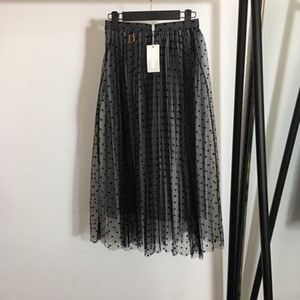 2021 Spring Summer Brand Same Style Half Skirt Black Womens Clothes Flora Print Fashion Empire NISHI