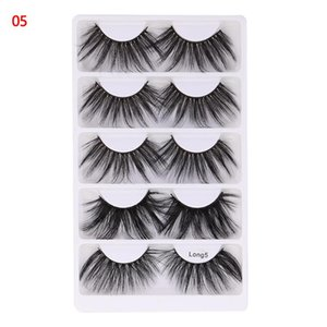 New 5 Pairs 25MM 3D Mink Hair False Eyelashes Handmade Super Long Soft Fluffy Volume Lashes Cruelty-free Lash Extension Tool